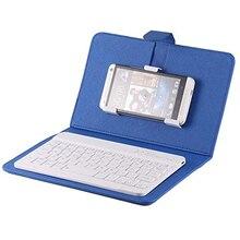 Портативный из искусственной кожи Беспроводной клавиатура чехол для iphone защитный чехол сумка для мобильного телефона с bluetooth клавиатура для iphone 6 7 смартфона с держателем для карт