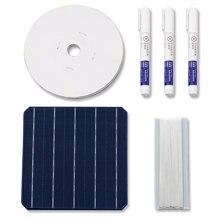 40 pièces 5W monocristall haute efficacité cellules solaires 6x6 avec Bus Tabbing fil et Flux stylo