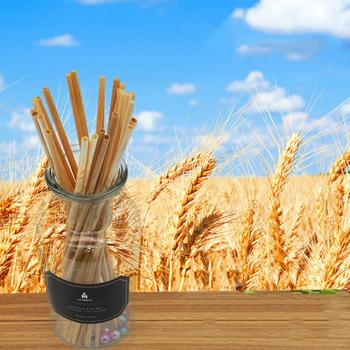 100pcs Natural Degradable Plant Environmental Wheat Straw 20cm Organic Wheat Straw Straw Для Кухни Kitchen Accessories image