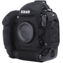 لنيكون غلاف حماية سيليكون للكاميرا الليتشي الملمس كاميرا حامي غطاء لنيكون D4 D4S D5 D500 D800 D810 D810a D750 D850 D7500