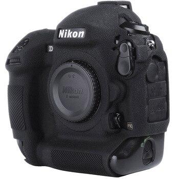 цена на For Nikon Silicone Camera Case Litchi Texture Camera  Protector Cover for Nikon D4 D4S D5 D500 D800 D810 D810a D750 D850 D7500