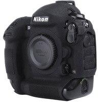 Nikon için silikon kamera kılıfı Litchi doku kamera koruyucu kapak için Nikon D4 D4S D5 D500 D800 D810 D810a D750 D850 D7500