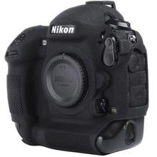 Pour Nikon Étui En Silicone Dappareil Photo Litchi Texture Caméra Housse De Protection Pour Nikon D4 D4S D5 D500 D800 D810 D810a D750 D850 D7500