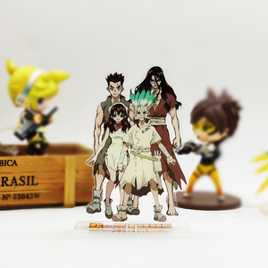 Image 1 - Love Thank you Dr. Stone Senku Taiju Tsukasa Yuzuriha acrylic stand figure model plate holder cake topper anime Japanese cool