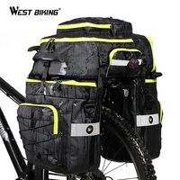 WEST BIKING 75L Large Capacity Bicycle Panniers 3 in 1 Bags Cycling Backpack Handbag Double Side Waterproof MTB Bike Trunk Bag