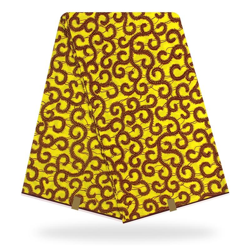 Ankara Fabric Wax African Fabric Wax Print 100% Cotton Material 6yards African Original Cotton Wax Fabric For Dress Wholesale