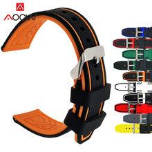 Silicone macio esporte pulseira 20mm 22mm 24mm 26mm borracha mergulho à prova dwaterproof água masculino substituição pulseira pulseira pulseira relógio acessórios