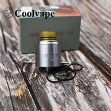 Coolvape MGNT RDA V2 kroplownik 22mm średnica ze stali nierdzewnej parownik Atomizer zbiornika RDA vs apokalipsa GEN RDA tanie tanio thunderhead creations Metal Wymienne 316ss