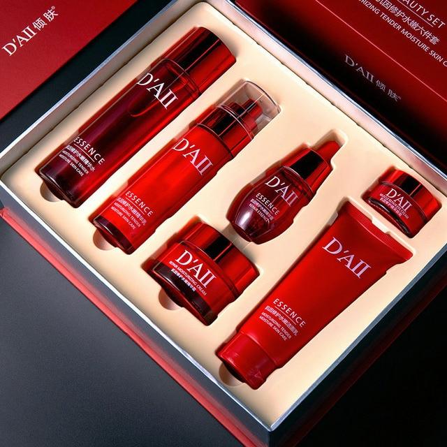 Skin Care Set Face Toner Essence Eye Cream Lotion Facial Cleanser Serum Nicotinamide Nourish Anti-Aging Cosmetics Kit Women M 4