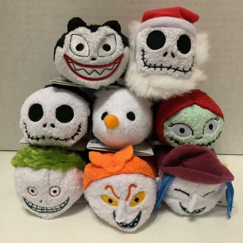 New Tsum Halloween Cosplay Christmas Night Scare Jack Sally Couple Mobile Phone Wipe Pendant Crouching Doll