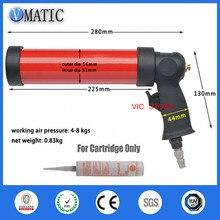 High Quality Pneumatic Caulking Glass Glue Caulking Gun 310ml/cc 1Pc + Plastic Cartridge 1Pc