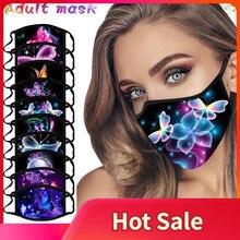 Маски унисекс с разноцветными бабочками для взрослых, Моющиеся Многоразовые теплые ветрозащитные пылезащитные маски для лица, 1 шт.