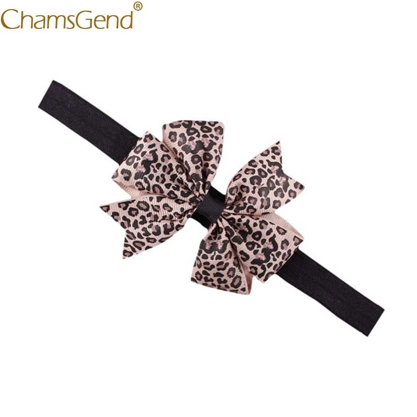 Newly Design Lovely Sweet Children's Elastic Force Hair Band Princess Baby Girl Round Dot Bowknot Leopard Hairband June9