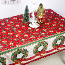 Christmas Red Bell Tablecloths For Home Navidad Noel 2019 New Year Decoration 2020 Table