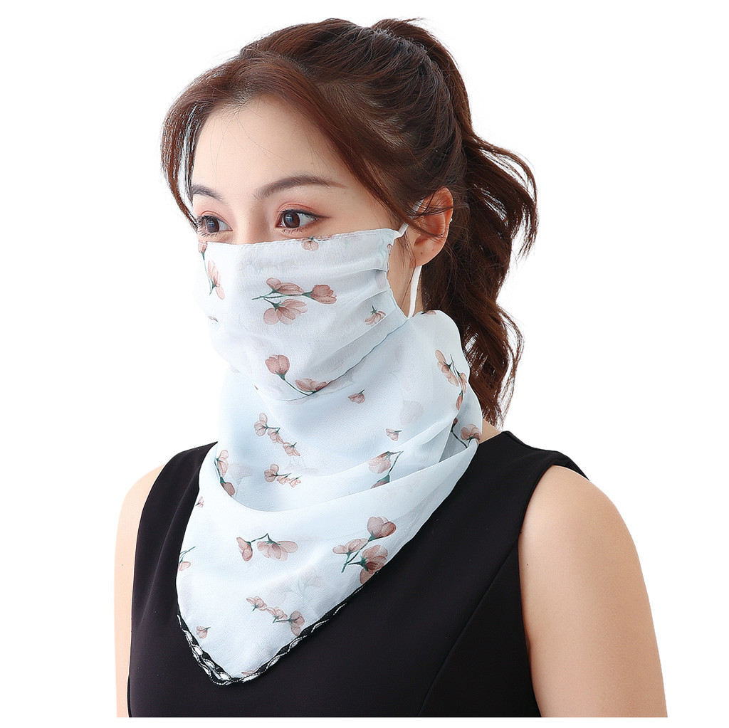 Summmer Women Girl Sun Protection Print Scarf Masks Sport Dustproof Neck Scarf Face Cover маска от вирусов модная For Cycling