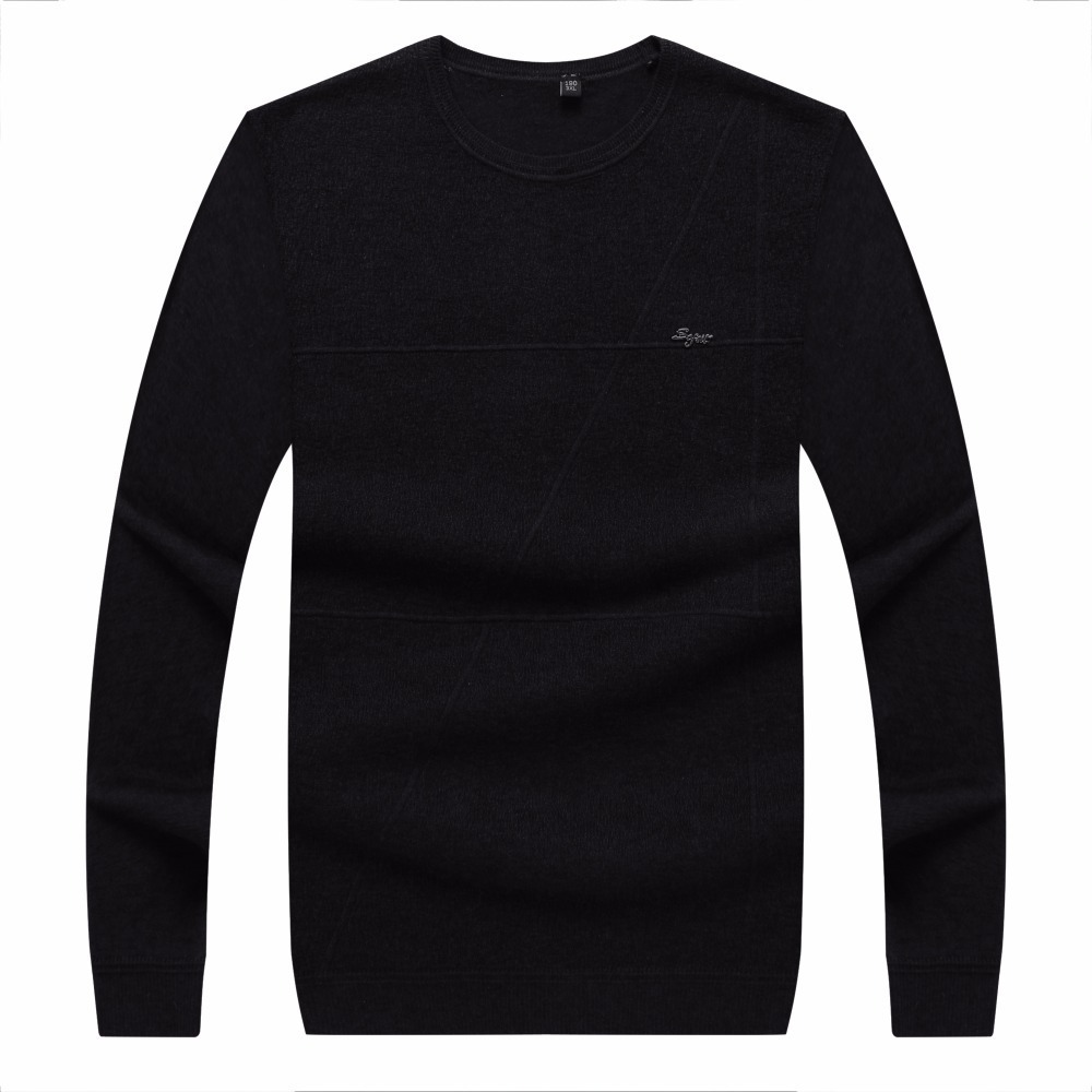 8XL 6XL Brand Social Cotton Thin Men's Pullover Sweaters Casual Crocheted Striped Knitted Sweater Men Masculino Jersey Clothes