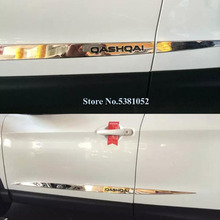 цена на Chrome Side Door Body Molding Cover Trim For Nissan Qashqai j11 2016 2017 2018 2019 Car Line Garnish Protector Accessories