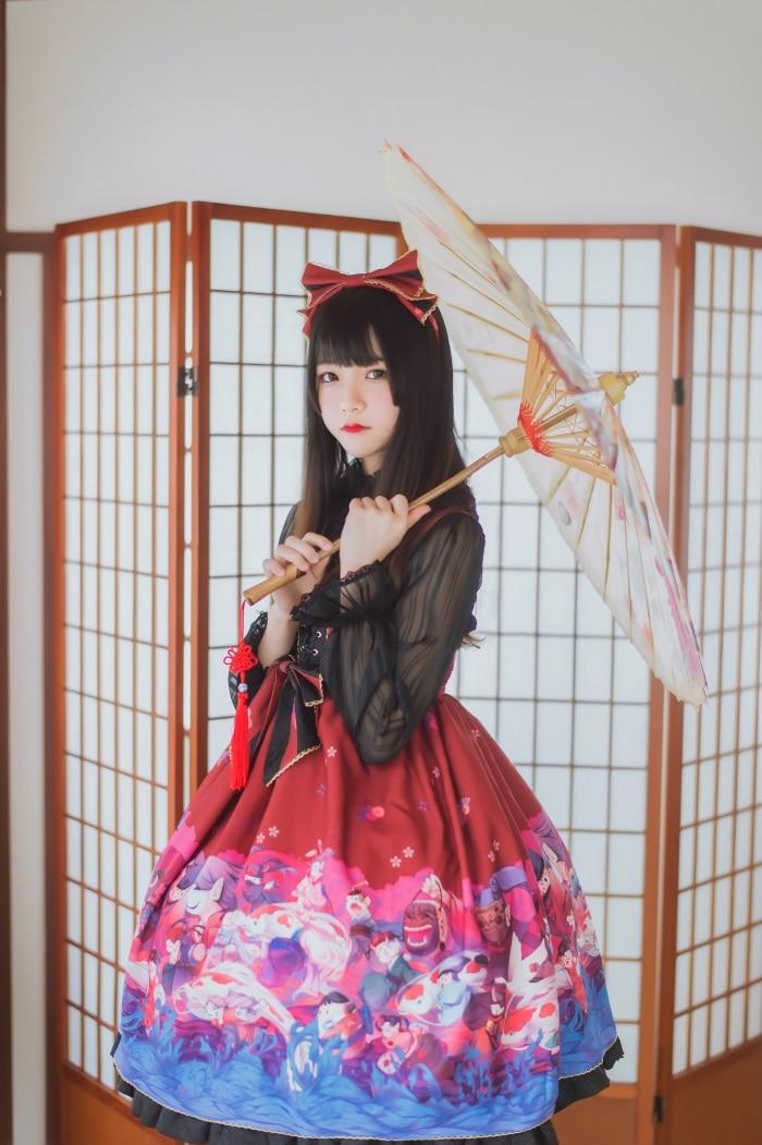 萝莉风COS 桜桃喵 – 和风lolita [22P/162MB]插图(1)