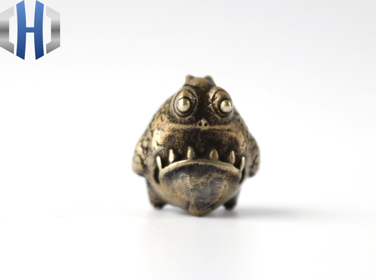 EDC Tools Brass Monster Lanyard Bead Paracord Knife Beads Knife Keychain Tool DIY Pendant