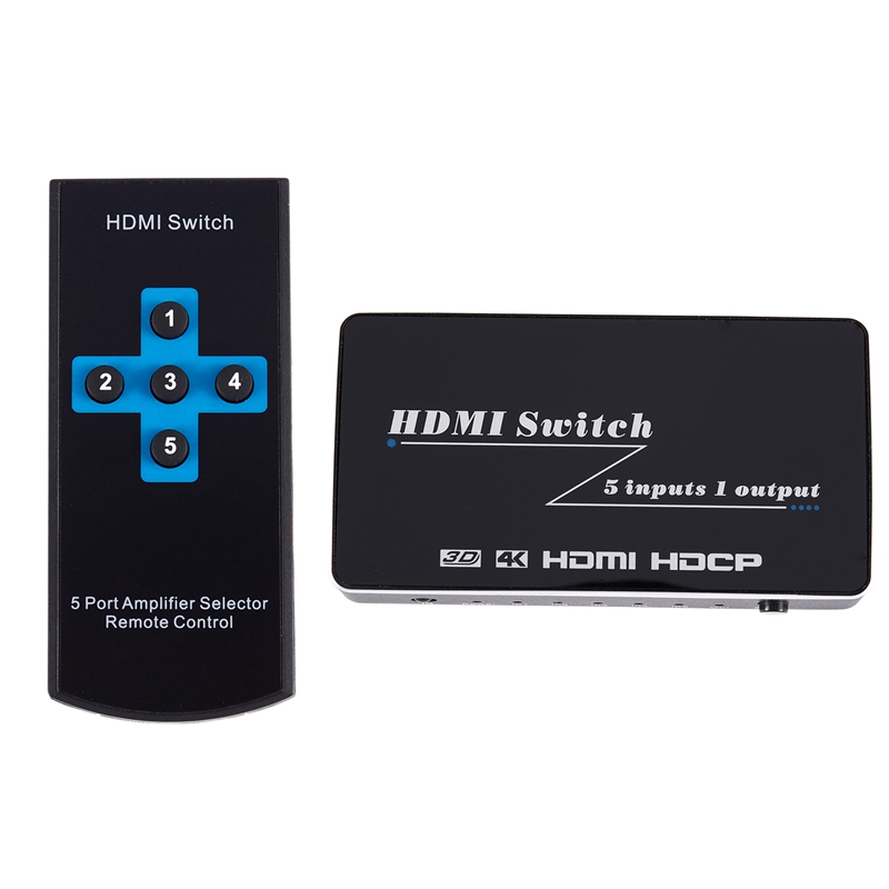 4K 60Hz Hdmi 2.0 Switch 5 Port 5 in 1 Out 5X1 1080P Hdmi Converter Video Switcher for Hdtv Xbox Hdmi Switch To Tv Us Plug|AC/DC Adapters| |  - title=