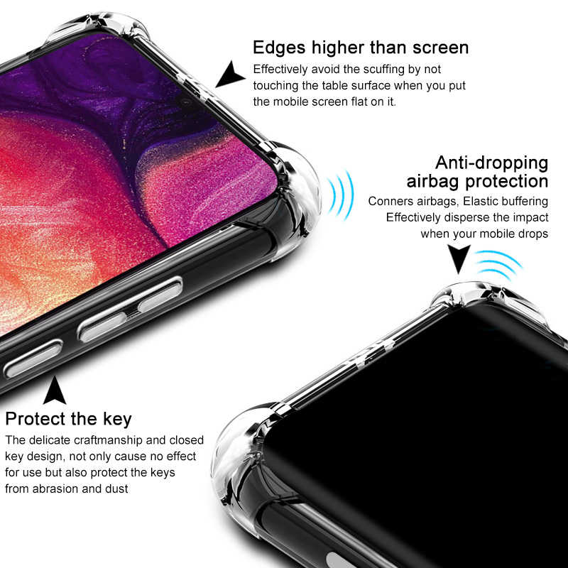 Telefon Fall für Samsung A50 A10 A40 A90 A80 Silikon Weiche Fall für Samsung Galaxy S10 9 8 Plus Hinweis 10 9 8 Transparent Zurück Abdeckung