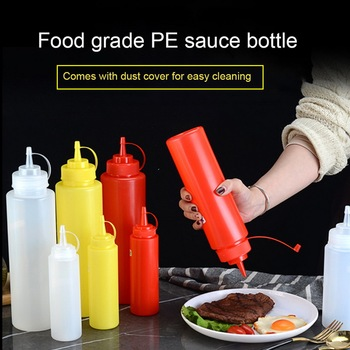 Sauce Vinegar Oil Ketchup Gravy Cruet Kitchen Accessories Gravy Boat Plastic Condiment Dispenser 8oz 12oz Squeeze Bottle mini salad dressing squeeze bottle silicone sauce jars for ketchup mustard mayonnaise condiment dispenser lunch box