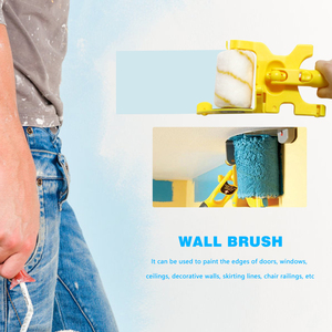 Image 3 - Outil de bordure de peinture de brosse de rouleau de coupe propre pour la maison plinthe garniture de porte mur plafond peinture outils de traitement de mur