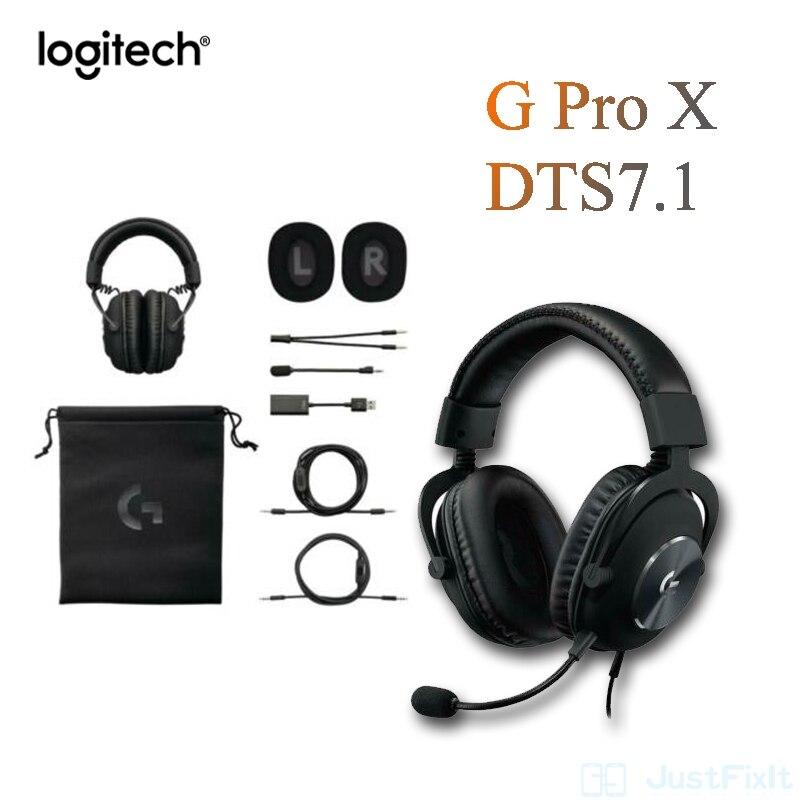 Проводная гарнитура G Pro X с карточным микрофоном, оригинальная Проводная гарнитура G Pro, игровая гарнитура с объемным звуком, внешний Usb