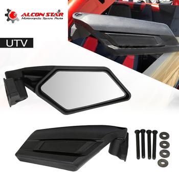 Alconstar-widok z tyłu motocykla lusterka wyścigi motocyklowe UTV lusterka boczne dla Can-Am Maverick X3 Max R akcesoria do lusterek silnikowych tanie i dobre opinie ZSDTRP L-436 5 8cm 40cm aluminum+plastic 1 5kg 8 7cm