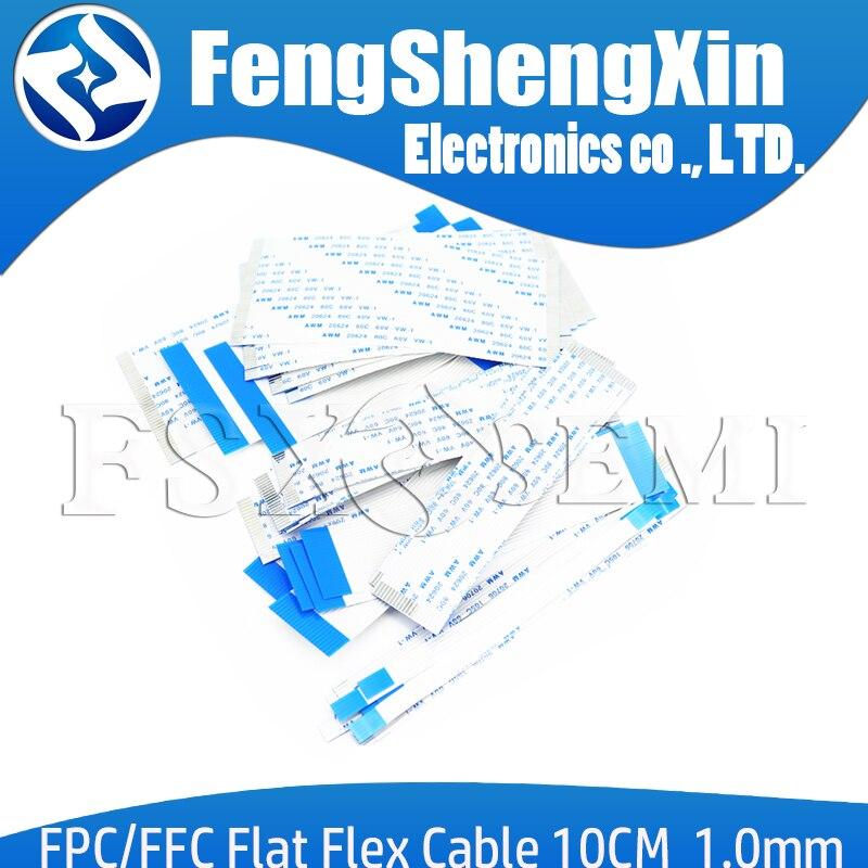 Гибкий плоский кабель FPC FFC, 10 шт., тип A/B, 1,0 мм, 10 см, 100 мм, 4/6/8/10/12/14/16/18/20/24/26/30/32P/34P/40P ~ 70P