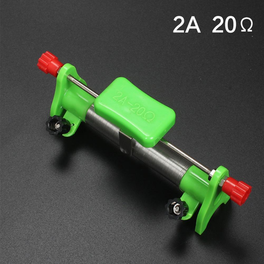 Mini 20 Ohms 2 Amps Slide Rheostat Resistor Physical Supplies Kids Education Toy Great For School Teaching Tools Lab Supplies