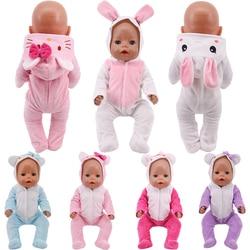 Милая Пижама «Hello Kitty», Пижамный костюм с вышивкой с плюшевой подкладкой, костюм для 18 дюймов американская кукла девочиковая игрушка 43 см для...