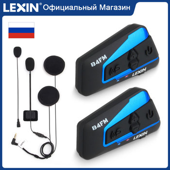 Lexin Motorcycle Bluetooth Helmet Headset Intercom 4 Riders 1600M  Wireless BT Intercomunicador Moto B4FM Intercomunicadores de casco lexin newest b2 motorcycle intercomunicador moto bt wireless interphone bluetooth helmet headsets for rider and passenger