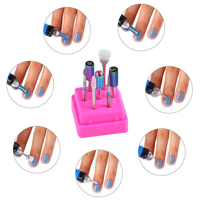 Combined Nail Drill Bits Set ,Ceramic manicure milling cutters,Nail Drill Equipment Tools Kit 1