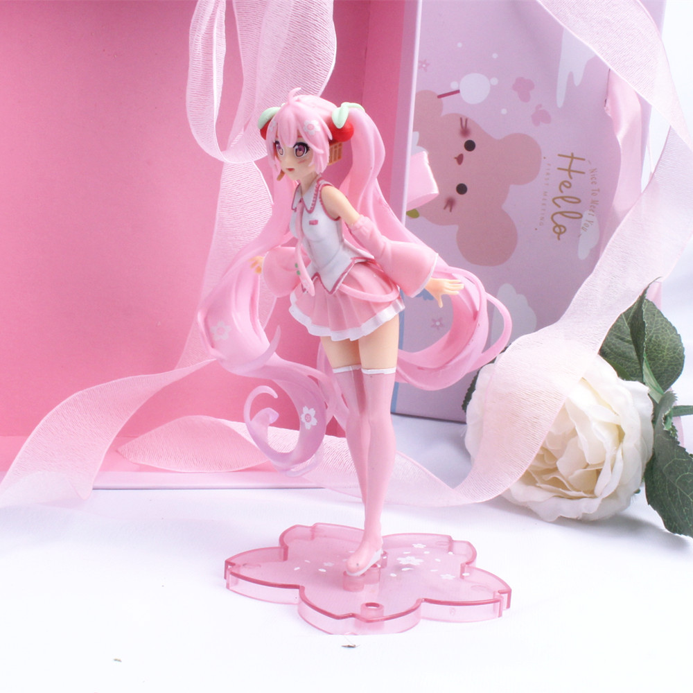 Pink Sakura Anime Girl Action Figures Toys Girls PVC Figure Model Toys Gift 2