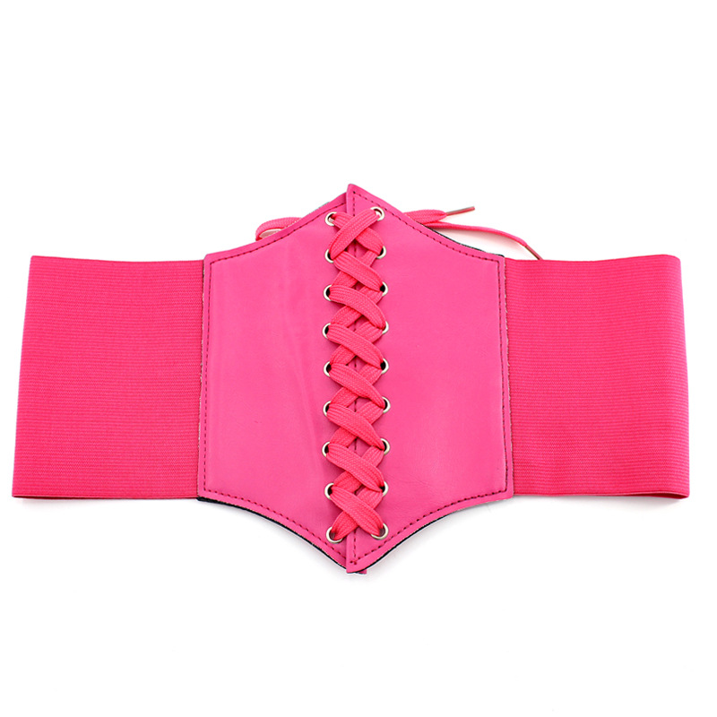 Gothic Vintage Rose Red Elastic Cummerbund VB0001 Fashion Individuality Wide Belts for Women Ladies