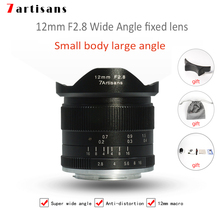 7artisans 12mm f2.8 ultra wide Angle micro single prime lens is suitable for the E Mount Eos m Mount  A6000, A6300, A6500, A7,