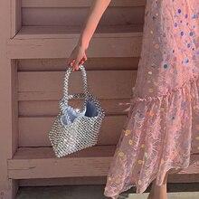 Инс же бисером сумочка жемчужная сумка женская новые роскошные сумки женские сумки дизайнерские