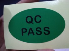QC pass yapışkan etiket baskı özel