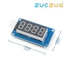 TM1637 светодиодный модуль дисплея для Arduino 7 сегментный 4 бита 0,36 дюймов часы красный анод цифровая трубка четыре последовательных платы драйвера