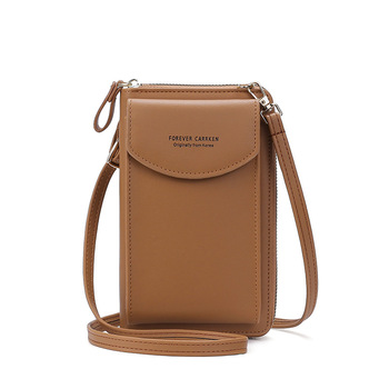 2020 Fashion Cell Phone Case Designer Small Shoulder Bag for Women PU Leather Ladies Crossbody Bag Female Mini Messenger Bags - Brown