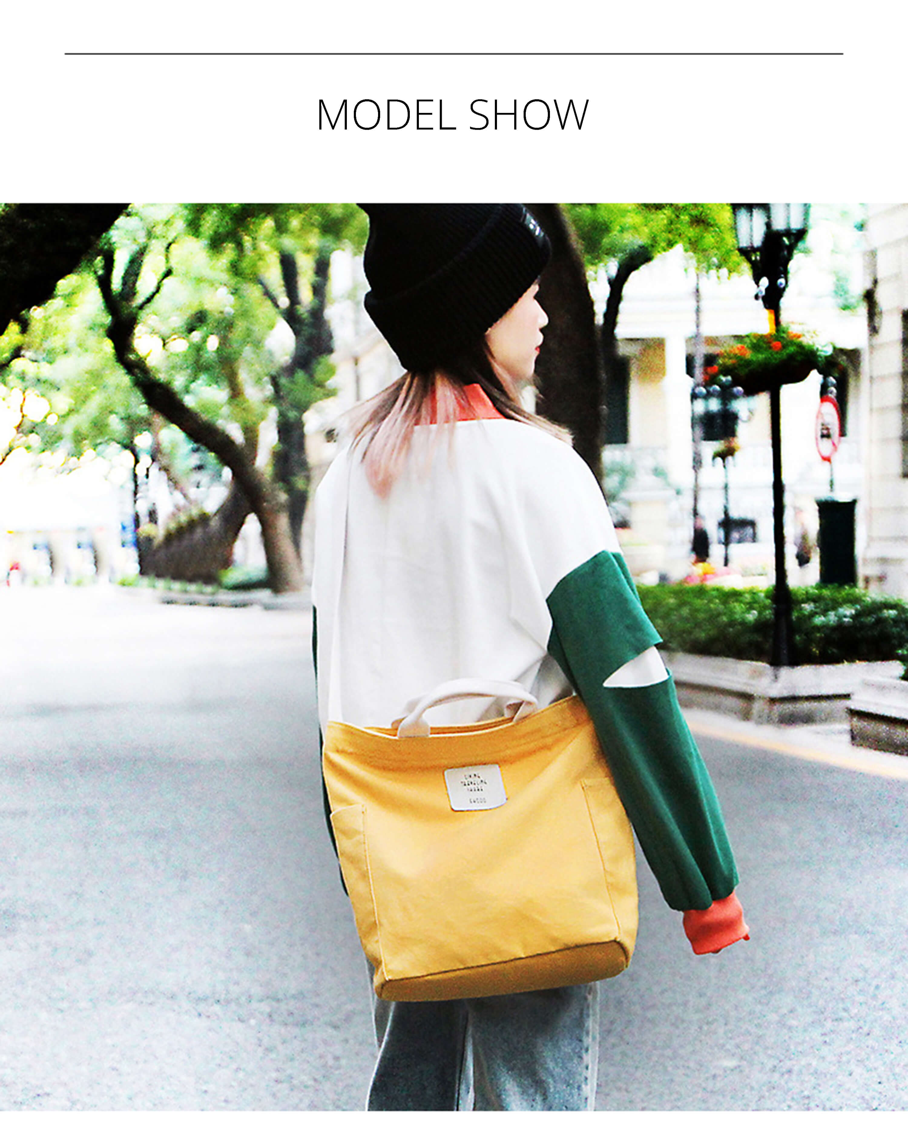 Stiven james coreano lona bolsa de ombro