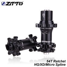 ZTTO MTB 28H Hole Straightpull Bicycle Hub QR Thru Axle HG XD 12 speed Micro spline Compatible Ratchet 54T For Mountain Bike(China)