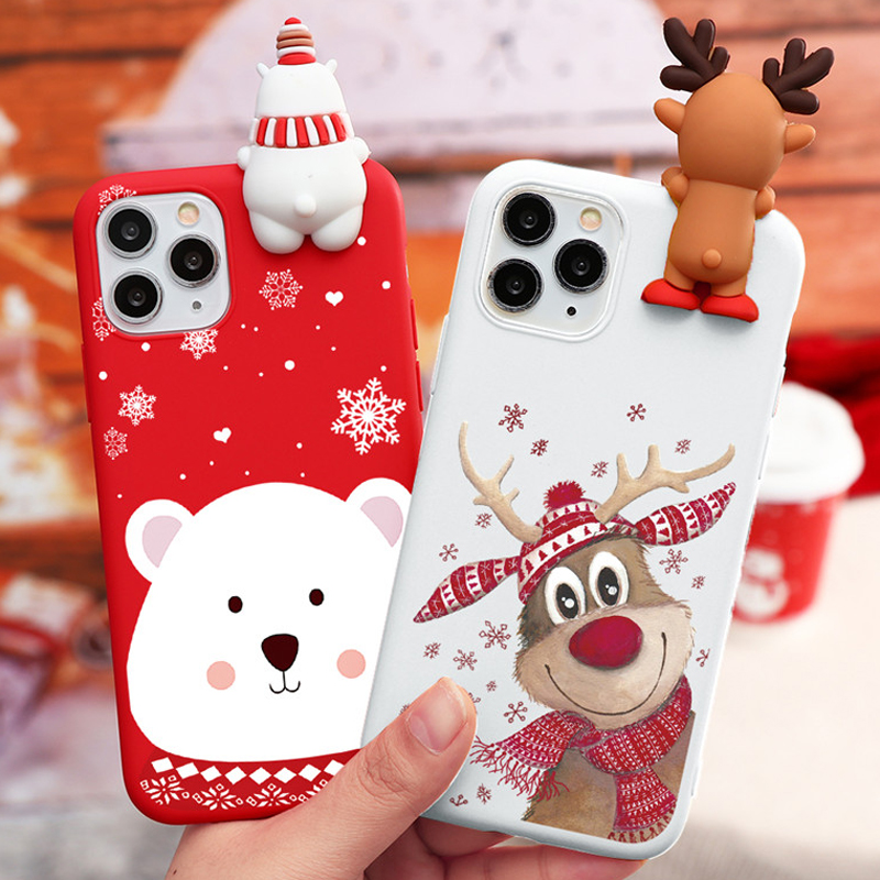 Cute Cartoon Christmas <font><b>Case</b></font> For <font><b>iPhone</b></font> SE 2020 <font><b>Cases</b></font> Silicone For <font><b>iPhone</b></font> 11 12 Pro <font><b>XS</b></font> Max <font><b>X</b></font> XR 10 5 5S 6 6S 8 7 Plus Cover Gifts image