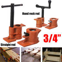 3/4 Inch Heavy Duty Pipe Clamp for Woodworking Wood Gluing Pipe Clamp Steel Cast Iron Pipe Clamp Fixture Carpenter Hand Tool