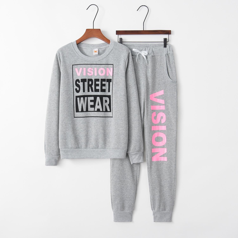 Letter Street 2020 New Design Fashion Hot Sale Suit Set Women Tracksuit Two-piece Style Outfit Sweatshirt Sport Wear