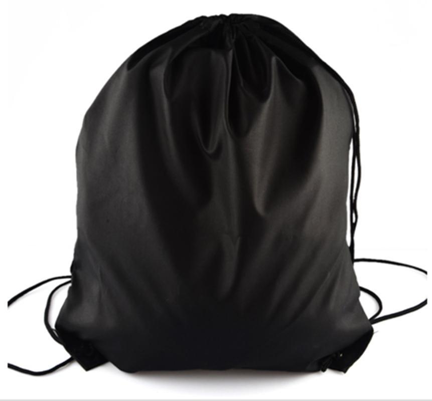 42cm*33cm Outdoor Polyester Sport Bag Pure Color Drawstring Backpack Gym Bag Unisex Black Blue Color