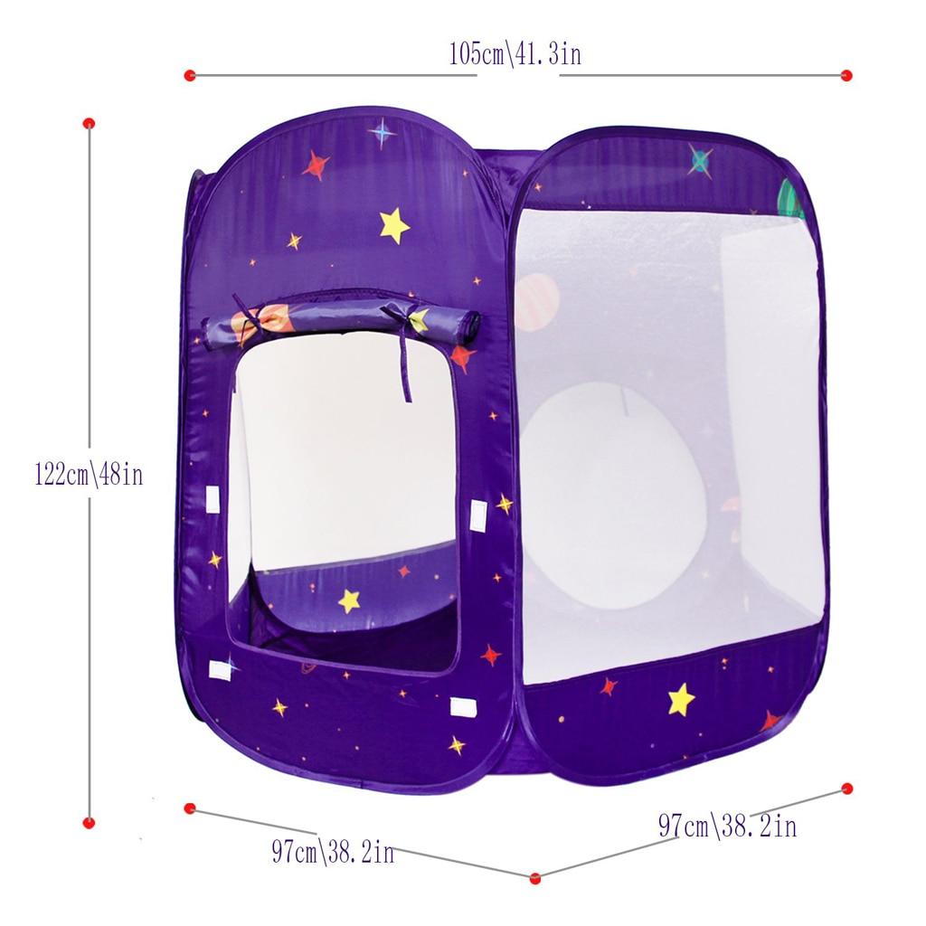3 в 1 детская игровая палатка с туннель, быстрый складной дизайн шариками палатка с сумкой для хранения на молнии - 6