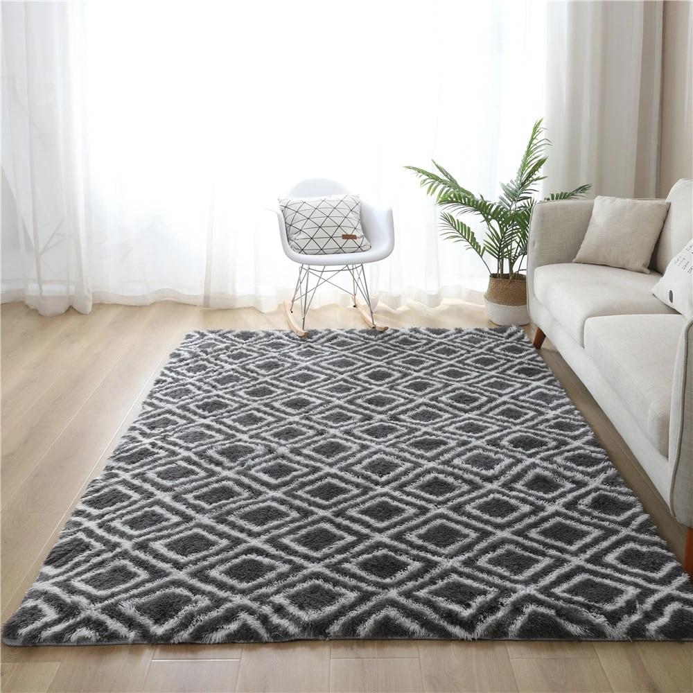 nouveau tie teinture gris diamant tapis salon table basse tapis chambre enfants ramper tapis cuisine antiderapant tapis baie fenetre tapis