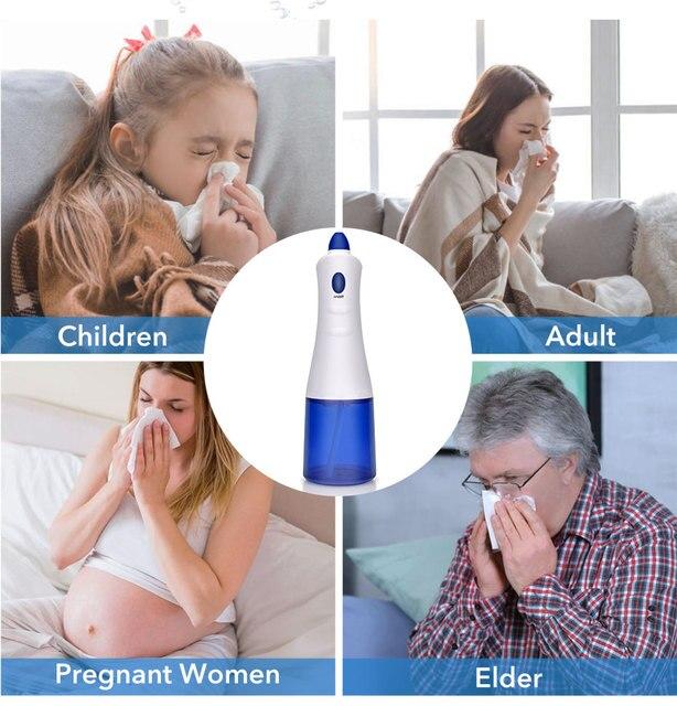 Irrigador Nasal eléctrico, máquina de limpieza Nasal, limpiador de lavado Nasal, previene la rinitis alérgica para adultos, olla para niños, enjuague Nasal